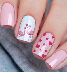 54 Simple Spring Nail Designs for Short Nails and Long Nails 54 Simple Spring Nail Designs for Short Nails and Long NailsIs it a little aesthetic fatigue to have a dark color nails for a winter? Cute Spring Nails, Spring Nail Colors, Cute Nails, Short Nail Designs, Nail Designs Spring, Pink Nails, My Nails, Color Nails, Manicure E Pedicure