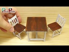 Miniature Vintage Table & Chairs Tutorial (Creating Dollhouse Miniatures)