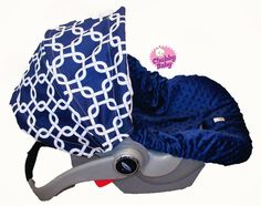 **Favorite one: Infant Car Seat Cover, Baby Car Seat Cover in Gotcha in Navy Blue