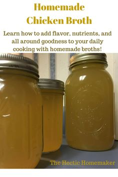 Learn how to make your own nutritious chicken broth and how to use Young Living Essential Oils to add extra Immune Support and flavor at thehectichomemaker.com