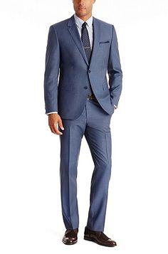 Extra slim fit anzug ryan4 win2 aus schurwoll mix blau grooms attire pinterest hugo - Hochzeitsanzug hugo boss ...