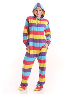 Funzee Adult Onesie Pjs Footed Pajamas Striped Playsuit Jumpsuit XS-XXL(Size by Height) Aunt Onesie, Adult Onesie Pajamas, Pijamas Onesie, Striped Playsuit, Pajama Suit, One Piece Pajamas, Pjs, Autumn Winter Fashion, Lounge Wear