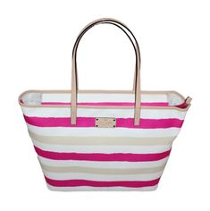 Kate Spade Bondi Road Medium Harmony Shoulder Bag (Pink/Cream) -- Read more at the image link. (This is an affiliate link) Kate Spade, Tote Bag, Cream, Shoulder Bags, Medium, Pattern, Pink, Image Link, Closure