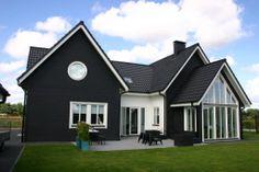 Achterkant Zweedse woning Beverwijk