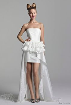 special high low wedding dress~