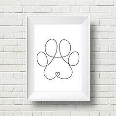 dog paw art - Minimalist Dog Paw Drawing Doodle Wall Art Print Printable Modern Paw Illustration Decor One Line Paw Print Pet Corner Living Room Art Doodle, Doodle Wall, Doodle Dog, Art On Wall, Wall Art Prints, Dog Paw Drawing, Paw Print Drawing, Dog Paw Art, Dog Line Drawing