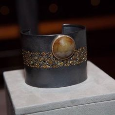 Cuff bracelet, Raw Elegance, Autumn Diamonds™