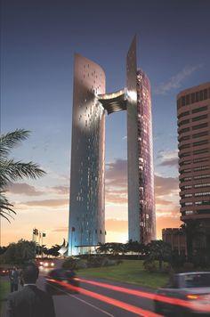 Corniche Towers, Tripoli, Libya.   THE LIBYAN Esther Kofod www.estherkofod.com