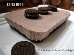 Y a la luna se le ve ve el ombligo...: Tarta Cheesecake Oreo My Way