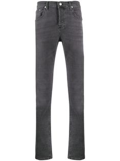 Grey cotton blend slim fit jeans from sandro paris featuring a waistband with belt loops, a button and zip fly, a five pocket design and a regular length. Sandro, Colorful Dresser, Jean Grey, Paris, Women Wear, Grey Furniture, Paint Furniture, Furniture Makeover, Furniture Design