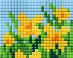 Daffodil cross stitch. Flowers cross stitch.
