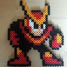 Quick Man perler beads by craig_and_destroy