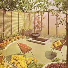 corrugated fiberglass fence | Landscape Construction Ideas (1963) : PopuluxeBooks, Retro Info For ...