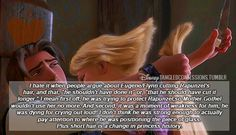 "disneytangledconfessions: """"I hate it when people argue about Eugene/Flynn cutting Rapunzel's hair, and that, ""he shouldn't have done it"" or, ""that he should have cut it longer. Disney Rapunzel, Disney Fun, Disney Magic, Walt Disney, Rapunzel Hair, Tangled Rapunzel, Disney Stuff, Disney Princesses, Disney Characters"