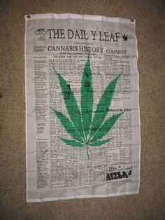 3x5 The Daily Leaf Marijuana Weed Blunt Flag 3'x5' Banner Brass Grommets #RFCO