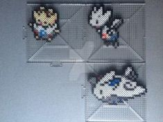 #175-#176, #468 Togepi Family Perlers by TehMorrison