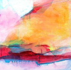 Original Abstract Painting Expressionist by kerriblackmanfineart, $140.00