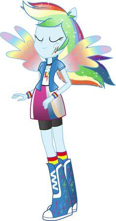 equestria girls rainbow dash rainbowfied by theshadowstone on