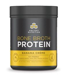 Bone Broth Protein, Pure Flavor - All Natural Protein Powder by Ancient Nutrition - Gut Friendly, Paleo Friendly Protien Powder Smoothies, Apple Smoothies, Bone Broth Protein Powder, Plant Based Protein Powder, Thing 1, Medical Weight Loss, Fodmap Diet, Organic Plants, Natural Supplements