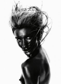 Shot by Rankin  ( i have blue nudes sort like this... it cool just finding this, Nick knight and Thierry le Goueshas used this approach~tru )