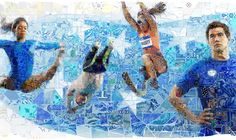 Mosaic Murals for USA House in Rio 2016 by Charis Tsevis