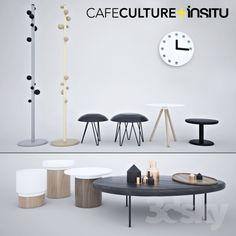 A set of furniture, cafe