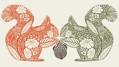 print patterns, squirrel illustration and pattern illustrati ...