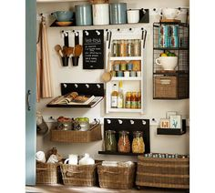 Build your own storage—Gabrielle Organization Components—love this storage system/look❣ Pottery Barn