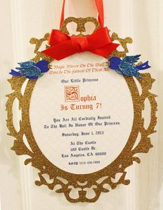 Snow White Invitations by SophiesticatedEvents on Etsy, $28.00