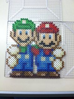 Mario and Luigi Perler beads by Khoriana