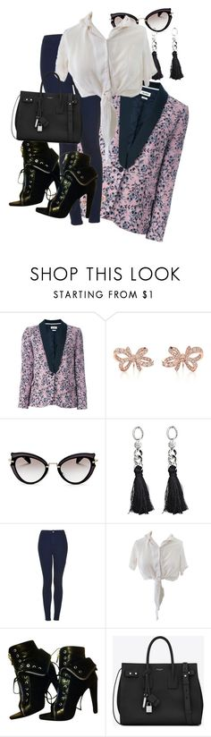 """""""Untitled #276"""" by pesanjsp ❤ liked on Polyvore featuring Zadig & Voltaire, Tiffany & Co., Miu Miu, Topshop, Alexander Wang and Yves Saint Laurent"""