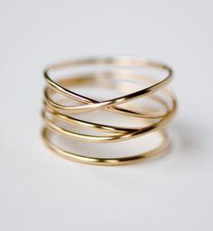 Wrap Ring, 14k gold fill. $58.00, via Etsy.