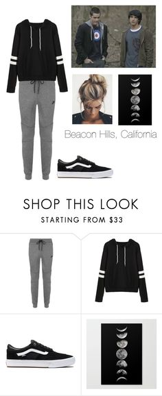 """Untitled #18"" by kendall-bostic ❤ liked on Polyvore featuring NIKE and Vans"