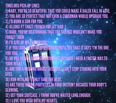Timelord Pick-up lines!