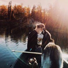 Tigger Lake. Fall starts earlier in Alaska. #ScoutForth folks. Photo by @briiisus