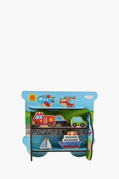 Bring out your kiddies co-ordination and creative skills and keep them occupied hours on end with this colourful transport
