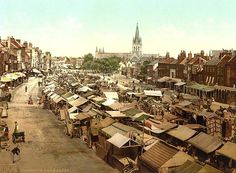 Great Yarmouth Market, circa 1890. This six day market dates back to 1208.