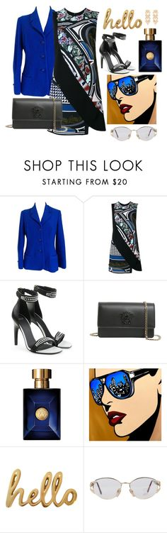 """9/31 Hypnotize"" by decimaollin ❤ liked on Polyvore featuring Versace and Bombay Duck"