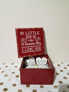 Check out this item in my Etsy shop https://www.etsy.com/uk/listing/577694790/10-reasons-why-i-love-you-anniversary