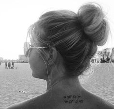 Coordinates Special Places Small Tattoo