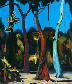 Mikelis Fisher, Selva Lacandona Chiapas México, Oil on canvas.