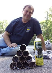 """Making tick tubes - Take your tubes and toss them out on the landscape in areas most likely to be frequented by mice, rats, chipmunks, squirrels and other rodents and small mammals. These tick hosts will pull out the treated dryer lint to use as """"feathering"""" for their nests, where continued exposure to the permethrin will kill the larvae and nymph ticks, breaking or slowing their life-cycle in your immediate vicinity, while not harming the mammals that live in those nests."""