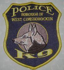 Burough of West Conshohocken Police K-9 Patch - Pennsylvania