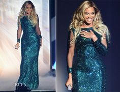 Beyonce Knowles In Vrettos Vrettakos Couture – Brit Awards 2014