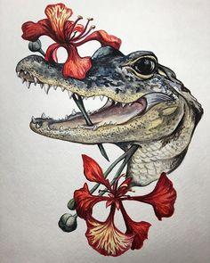 Le plus récent Totalement gratuit Reptiles tattoo Suggestions Animal Sketches, Animal Drawings, Art Drawings, Arte Naturalista, Art Inspo, Desenho New School, Cute Reptiles, Reptiles Preschool, Frida Art