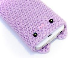 Crocheted Iphone Case Lavender Kawaii Accessories Blog