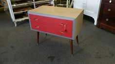 Mid Century 2 drawer dresser/ nightstand. Painted with Dixie Belle ...