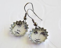 LadyFace Photo Earrings by LittleVisionsByAnn on Etsy, $20.00