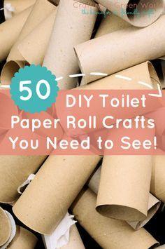 50 DIY Toilet Paper Roll Crafts You Need to See! ~~ Aprende a reutilizar de manera creativa los rollos de papel de baño.