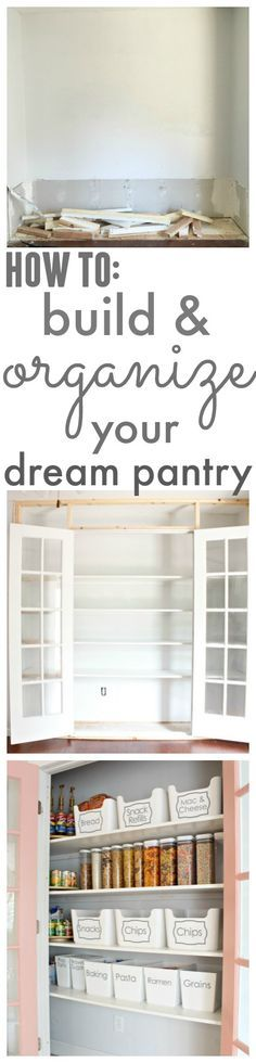 DIY Pantry Build and Reveal - See how I turned an unused nook into a dreamy pantry and maximized the space in my kitchen! - www.classyclutter.net